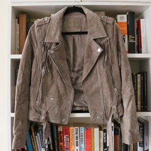 Blank NYC suede leather moto jacket